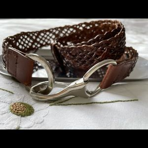 PORTMANS large woven belt with metal detail clasp